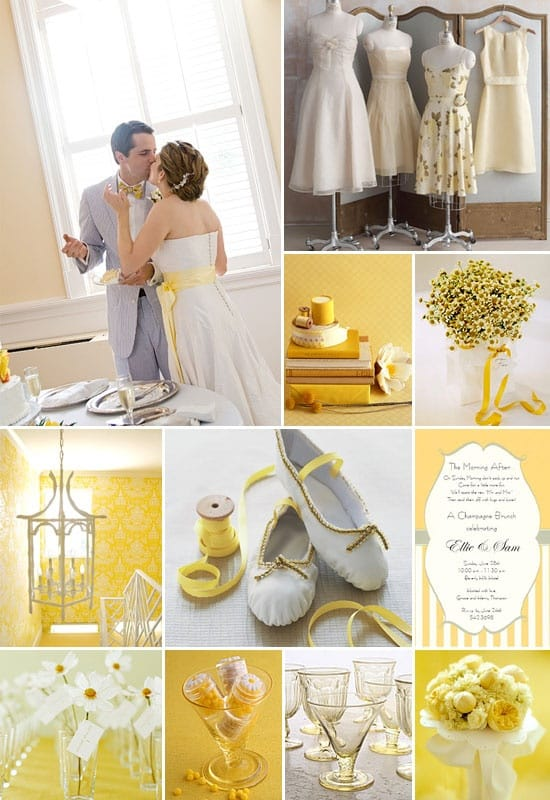 Yellow And Silver Wedding Dresses : Help me decide wedding color palettes inspiration picklee