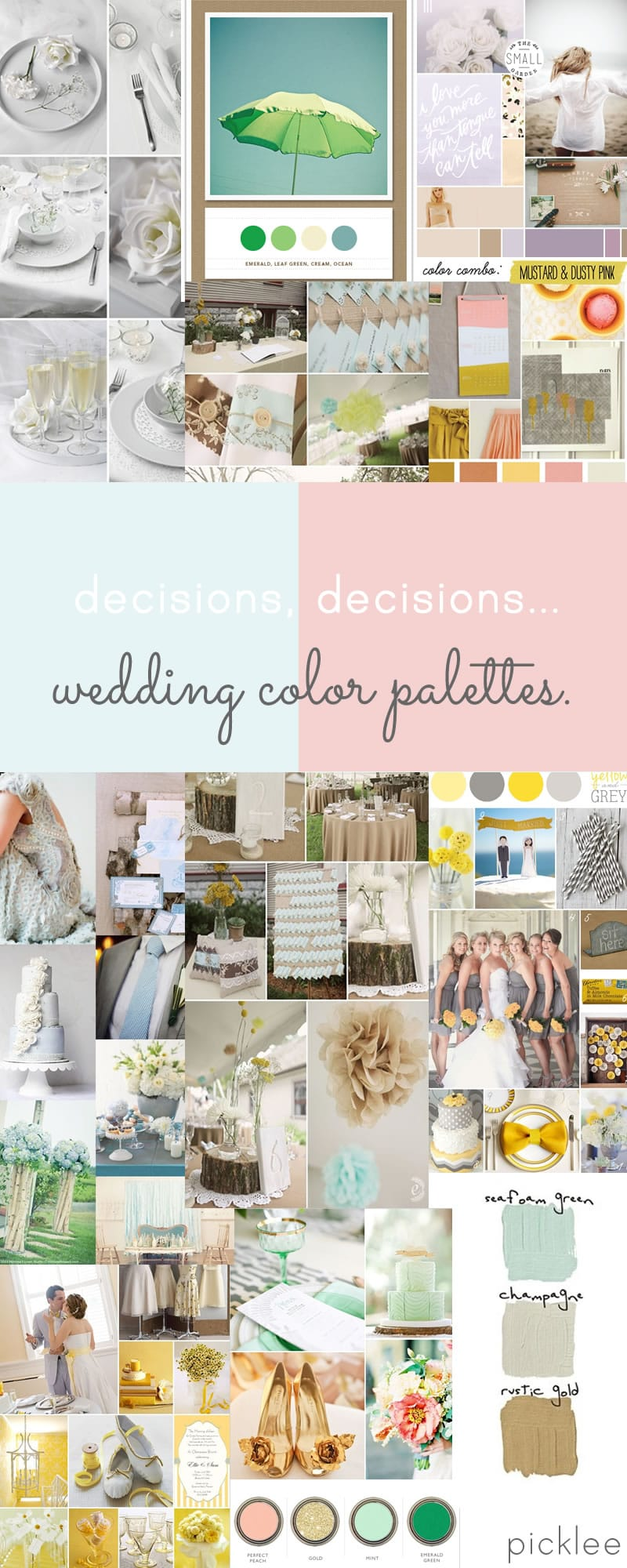 wedding color palette ideas