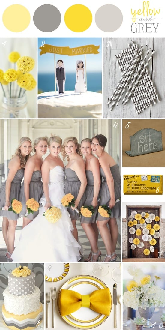 Stunning Yellow And Gray Wedding Colors Pictures - Styles & Ideas ...