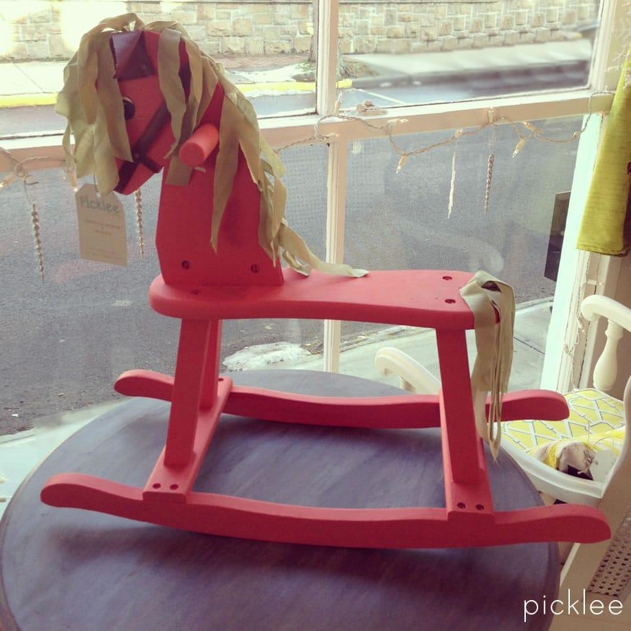 vintage-wood-rocking-horse