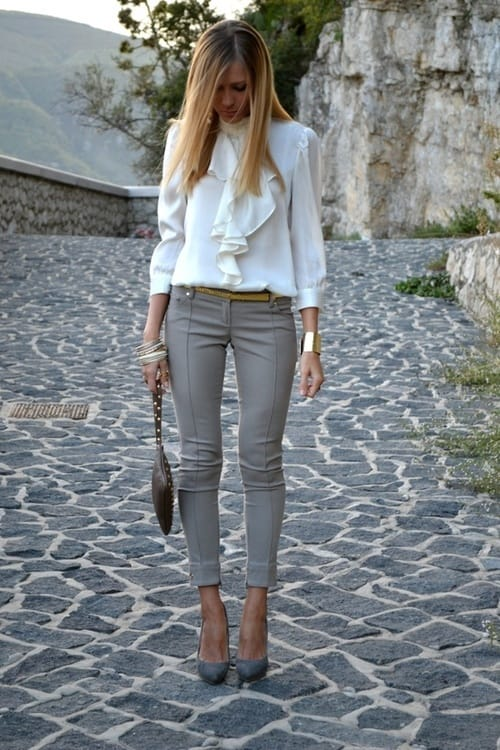 gray-leggings-blouse