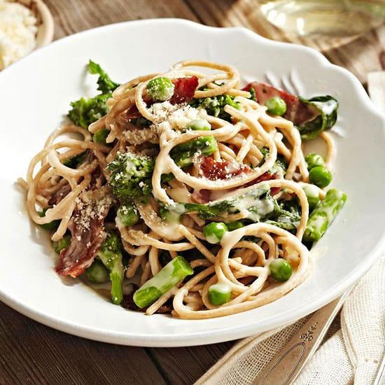 healthy pasta carbonara