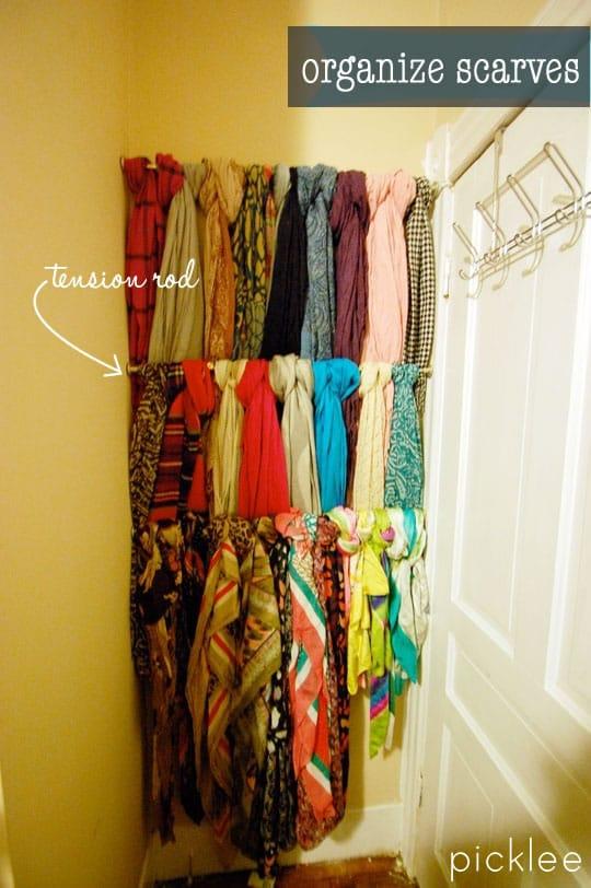 scarf-organizer-diy