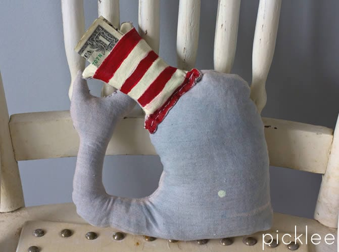 tooth fairy pillow-handmade-whale