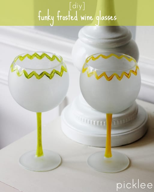 diy-frosted wine glasses