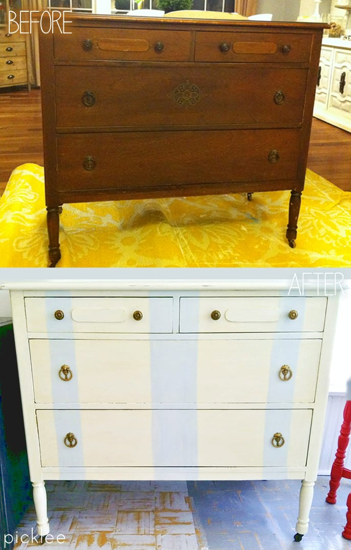 before-after-striped-dresser