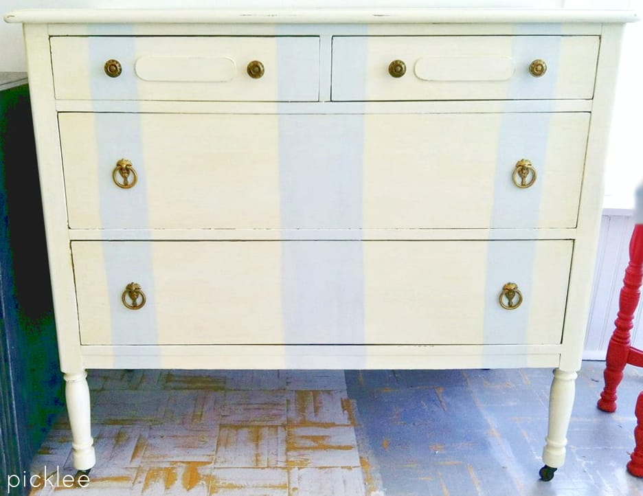 blue-striped-dresser