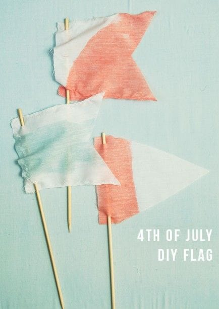 fouth july diy flags