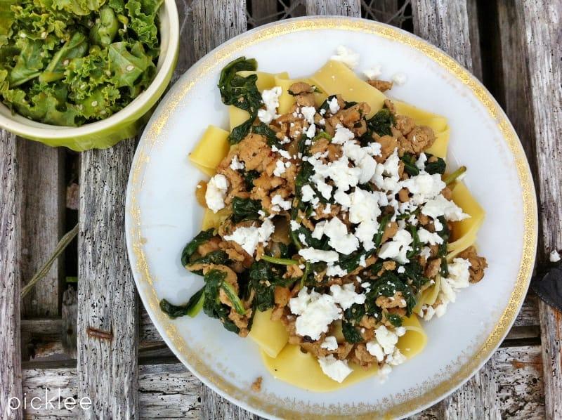 ground turkey-pasta-spinach2