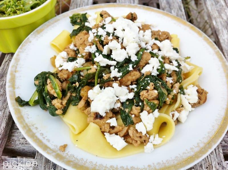 ground turkey-pasta-spinach3