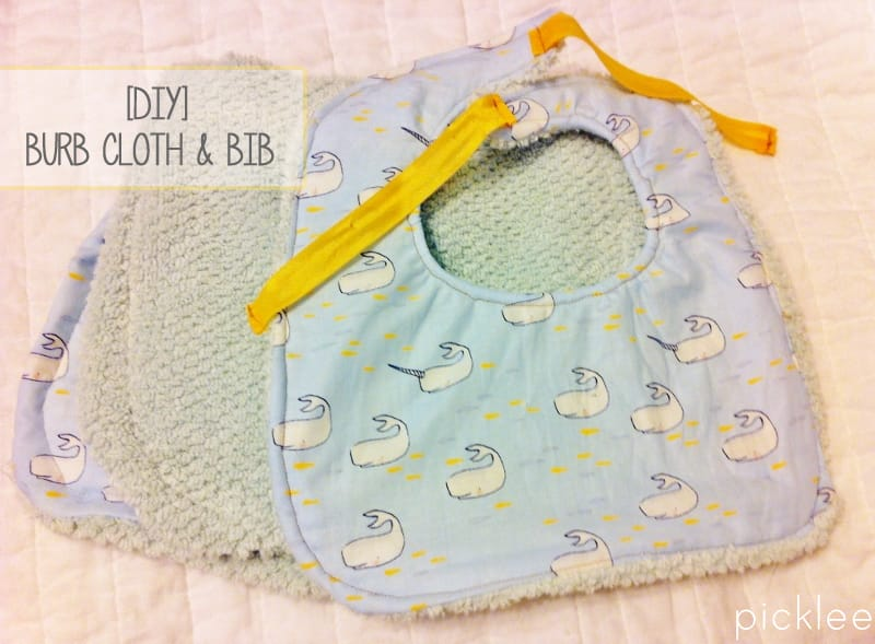 DIY Baby Bib & Burp Cloth [tutorial] - Picklee