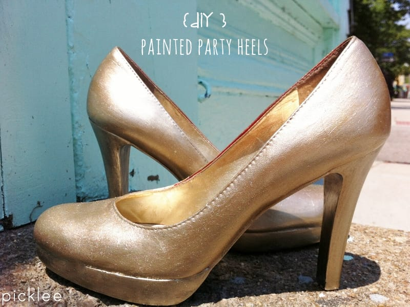 diy painted hgh heels