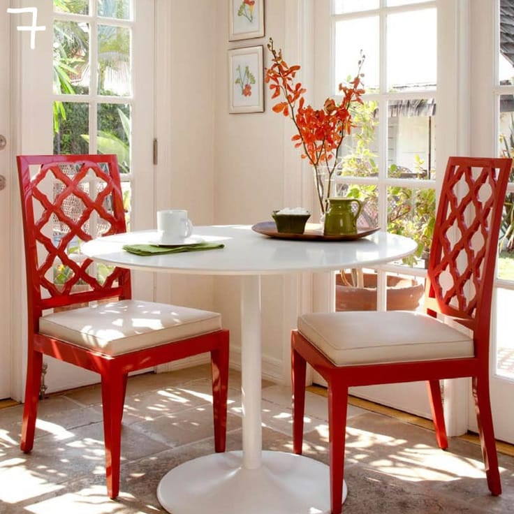 Red Lacquer Dining Chairs 7
