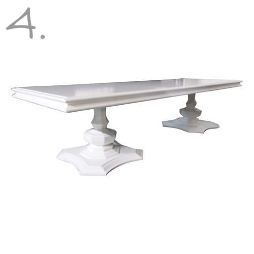 white lacquer dining table-4