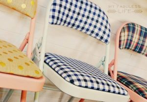 diy folding chairs painted