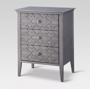 target fretwork accent table gray