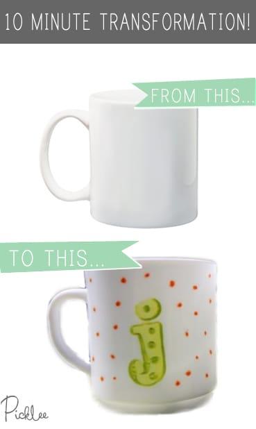 anthro inspired monogram mugs