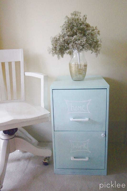 Chalk Painted Filing Cabinet4 Chalk Painted Filing Cabinet 10 ...