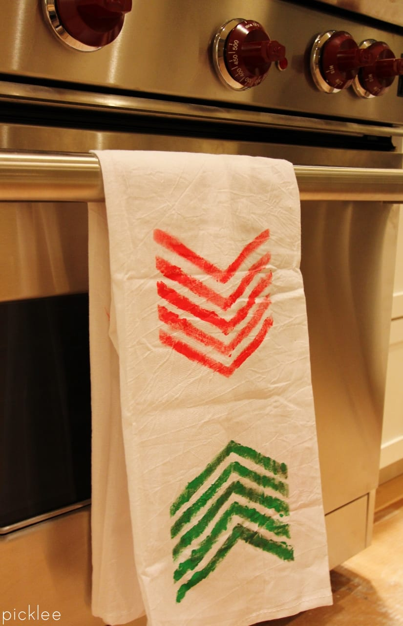 diy christms towels