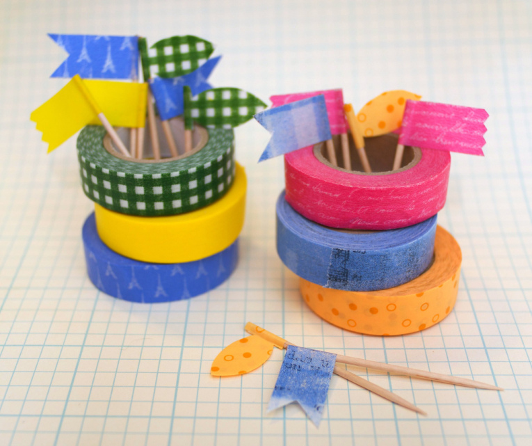 washi tape food toothpicks