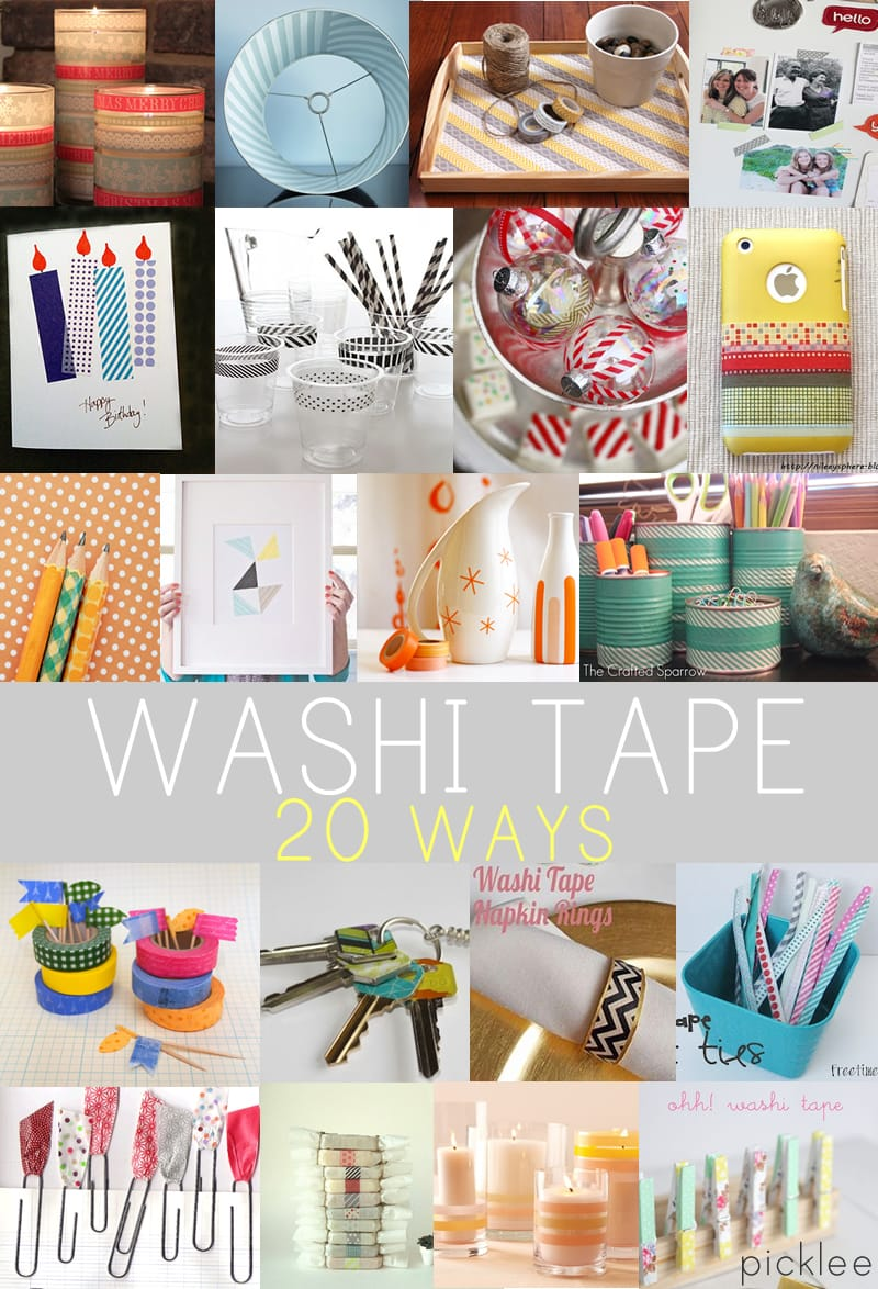 20 washi tape projects crafts diy inspiration picklee for Crafts with washi tape