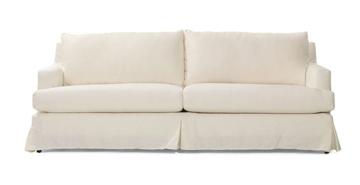 Selecting the perfect slipcovered sofa inspiration picklee for White linen sectional sofa