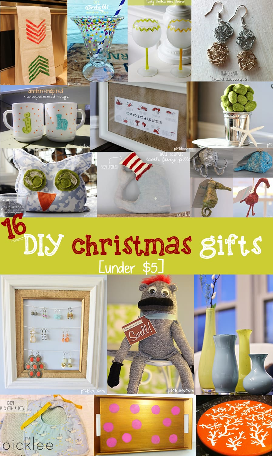 under 5 16 diy christmas gifts - Christmas Gifts Under 5 Dollars