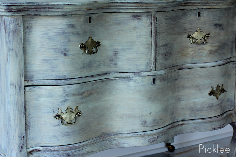 chalk paint aged distressed dresser gray 2