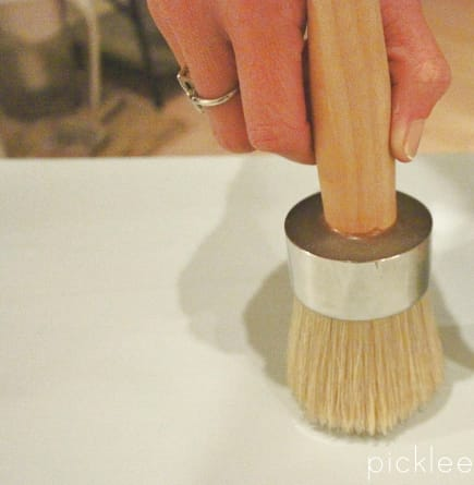 chalk paint wax brush
