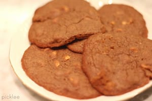 chocolate peanut butter chip cookies 2