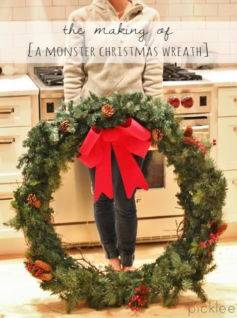 The Making Of A Monster Christmas Wreath Diy Picklee
