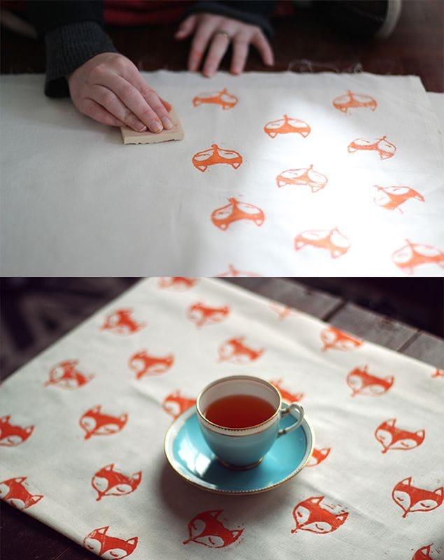 diy fox stamp