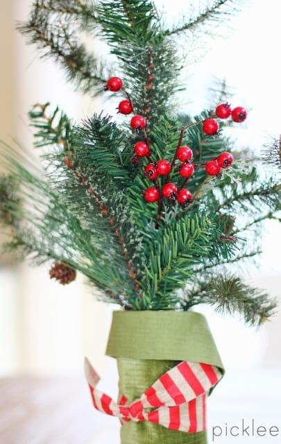 diy winter arrangement