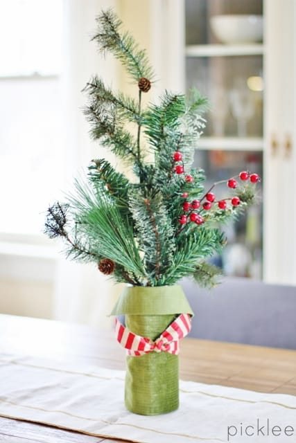 diy winter floral arrangement2