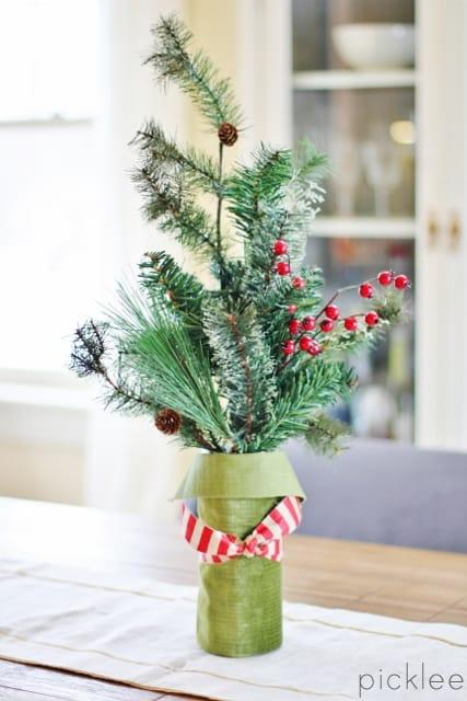 diy winter floral arrangement2