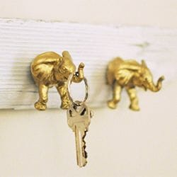 gold painted animal toys