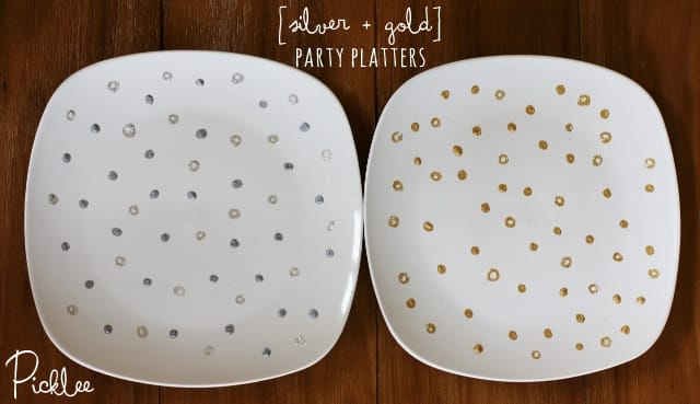gold-silver- party platters