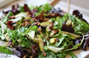 gorgonzola pear salad 2