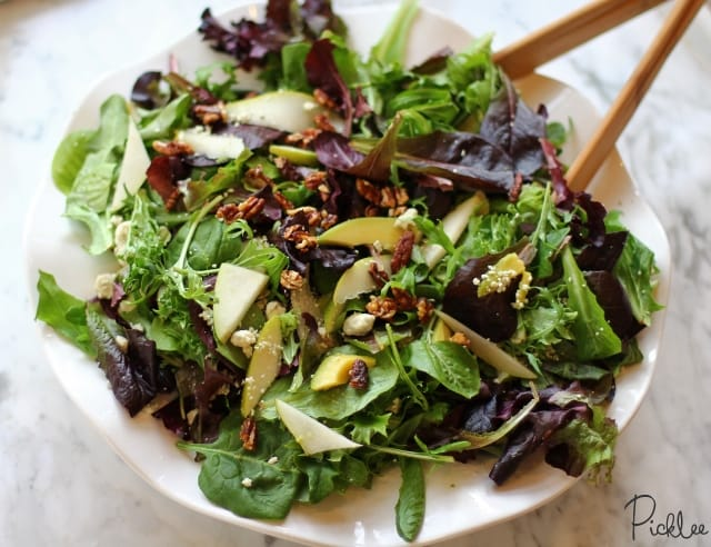 gorgonzola pear salad 3