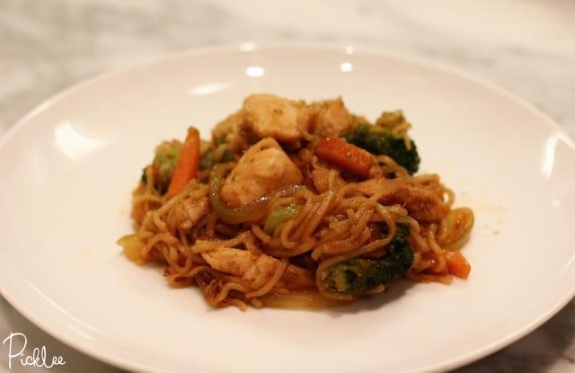 mongolian chicken pasta 2