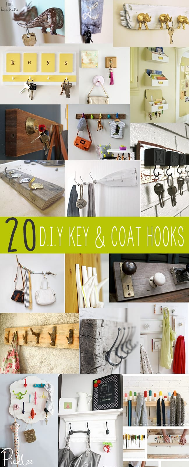 20 diy key-coat hooks