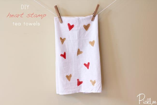 heart-stamp-tea-towels diy
