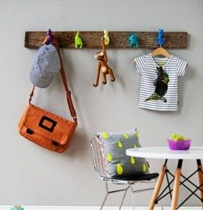 20 diy key coat hooks inspiration picklee for Kids room hooks
