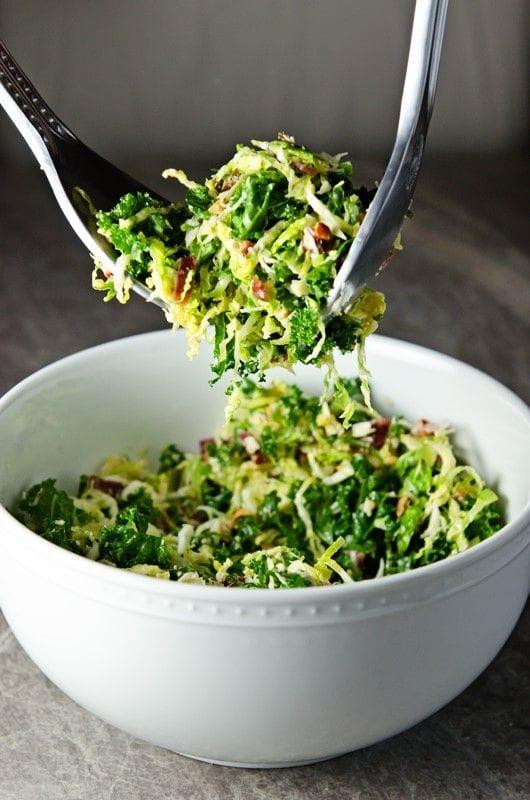 kale-brussles sprout salad