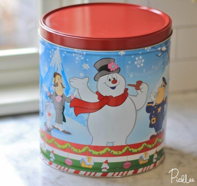 Christmas Popcorn Tin