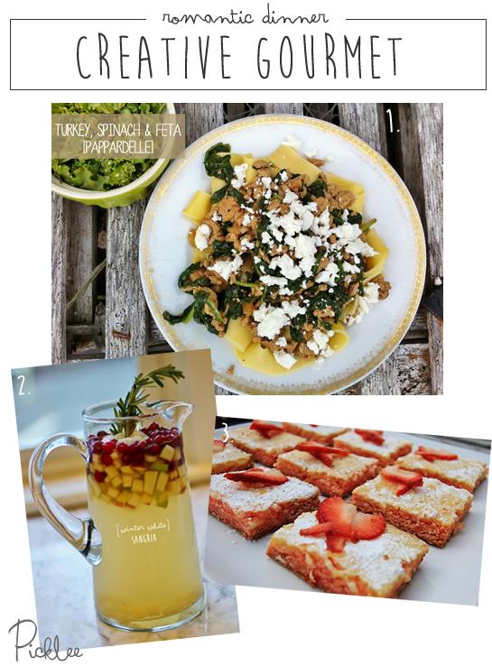 Foolproof romantic dinner ideas recipe inspiration picklee for Gourmet dinner menu ideas