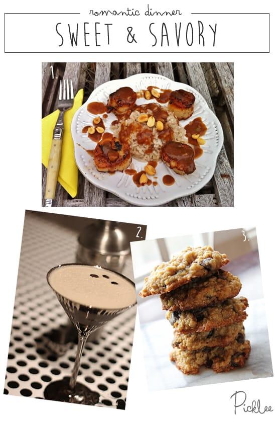 romantic dinner idea-sweet and savory