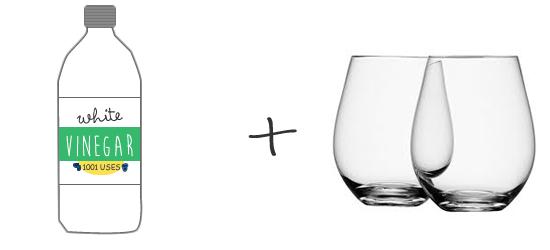 white-vinegar-clean-glasses-hard-water