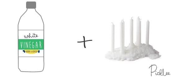 white-vinegar-remove candle wax