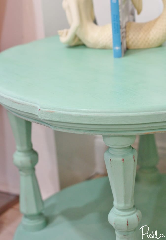 chalk paint-robins egg-table